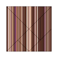 Brown Vertical Stripes Acrylic Tangram Puzzle (6  X 6 )
