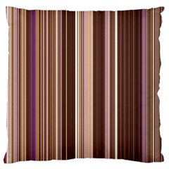 Brown Vertical Stripes Large Cushion Case (two Sides)