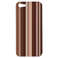Brown Vertical Stripes Apple iPhone 5 Hardshell Case