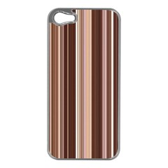 Brown Vertical Stripes Apple Iphone 5 Case (silver)