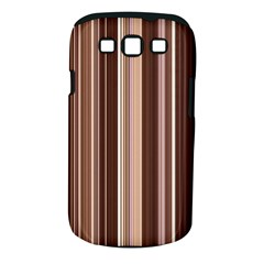 Brown Vertical Stripes Samsung Galaxy S III Classic Hardshell Case (PC+Silicone)
