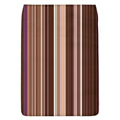 Brown Vertical Stripes Flap Covers (l)