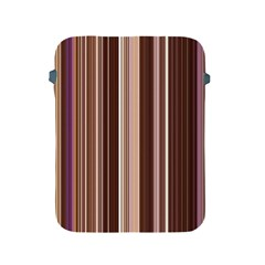 Brown Vertical Stripes Apple Ipad 2/3/4 Protective Soft Cases