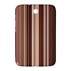 Brown Vertical Stripes Samsung Galaxy Note 8.0 N5100 Hardshell Case