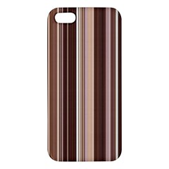 Brown Vertical Stripes Iphone 5s/ Se Premium Hardshell Case