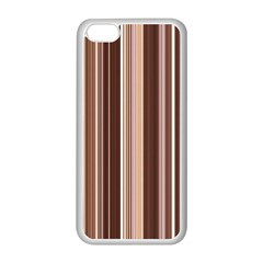 Brown Vertical Stripes Apple iPhone 5C Seamless Case (White)