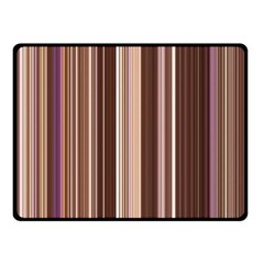 Brown Vertical Stripes Double Sided Fleece Blanket (small)