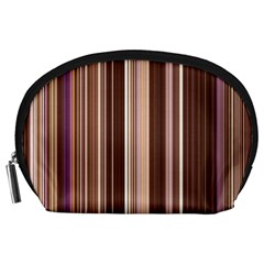 Brown Vertical Stripes Accessory Pouches (large)