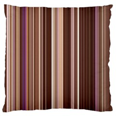 Brown Vertical Stripes Standard Flano Cushion Case (Two Sides)