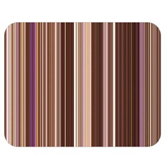 Brown Vertical Stripes Double Sided Flano Blanket (medium)