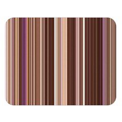 Brown Vertical Stripes Double Sided Flano Blanket (large)