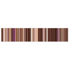 Brown Vertical Stripes Flano Scarf (small)