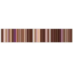 Brown Vertical Stripes Flano Scarf (large)
