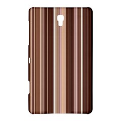 Brown Vertical Stripes Samsung Galaxy Tab S (8.4 ) Hardshell Case