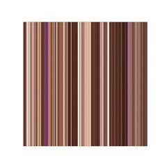Brown Vertical Stripes Small Satin Scarf (Square)