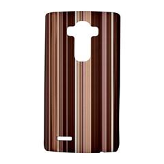 Brown Vertical Stripes Lg G4 Hardshell Case