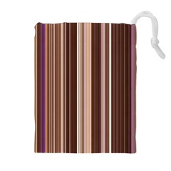 Brown Vertical Stripes Drawstring Pouches (Extra Large)