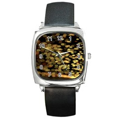 Blurry Sparks Square Metal Watch