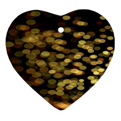 Blurry Sparks Heart Ornament (two Sides)