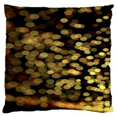 Blurry Sparks Large Flano Cushion Case (one Side)