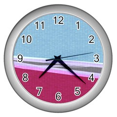 Cracked Tile Wall Clocks (Silver)