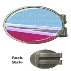 Cracked Tile Money Clips (oval)