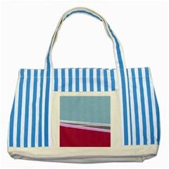 Cracked Tile Striped Blue Tote Bag