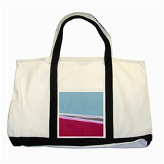 Cracked Tile Two Tone Tote Bag