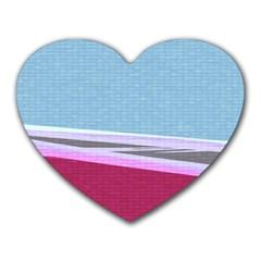 Cracked Tile Heart Mousepads