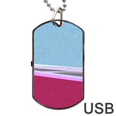 Cracked Tile Dog Tag USB Flash (Two Sides)