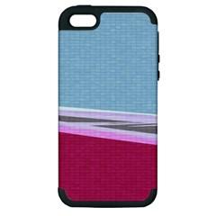 Cracked Tile Apple Iphone 5 Hardshell Case (pc+silicone)