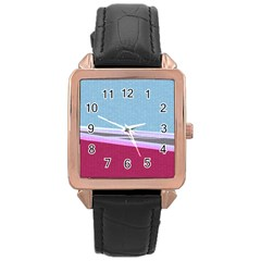 Cracked Tile Rose Gold Leather Watch