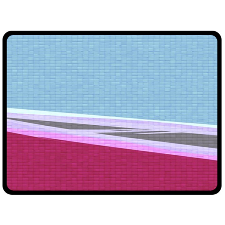 Cracked Tile Double Sided Fleece Blanket (Large)