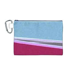 Cracked Tile Canvas Cosmetic Bag (M)