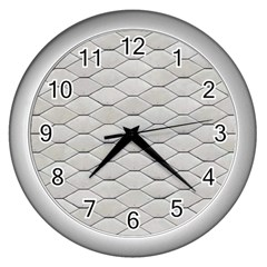 Roof Texture Wall Clocks (silver)