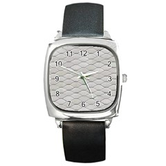 Roof Texture Square Metal Watch