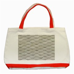 Roof Texture Classic Tote Bag (red)