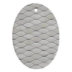Roof Texture Oval Ornament (Two Sides)