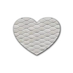 Roof Texture Rubber Coaster (Heart)