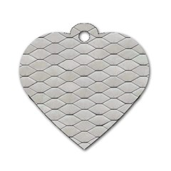 Roof Texture Dog Tag Heart (two Sides)