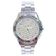 Roof Texture Stainless Steel Analogue Watch