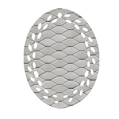 Roof Texture Oval Filigree Ornament (Two Sides)
