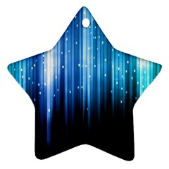 Blue Abstract Vectical Lines Ornament (Star)