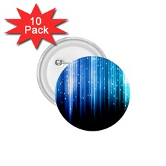 Blue Abstract Vectical Lines 1.75  Buttons (10 pack)