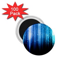 Blue Abstract Vectical Lines 1 75  Magnets (100 Pack)