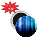 Blue Abstract Vectical Lines 1.75  Magnets (100 pack)  Front