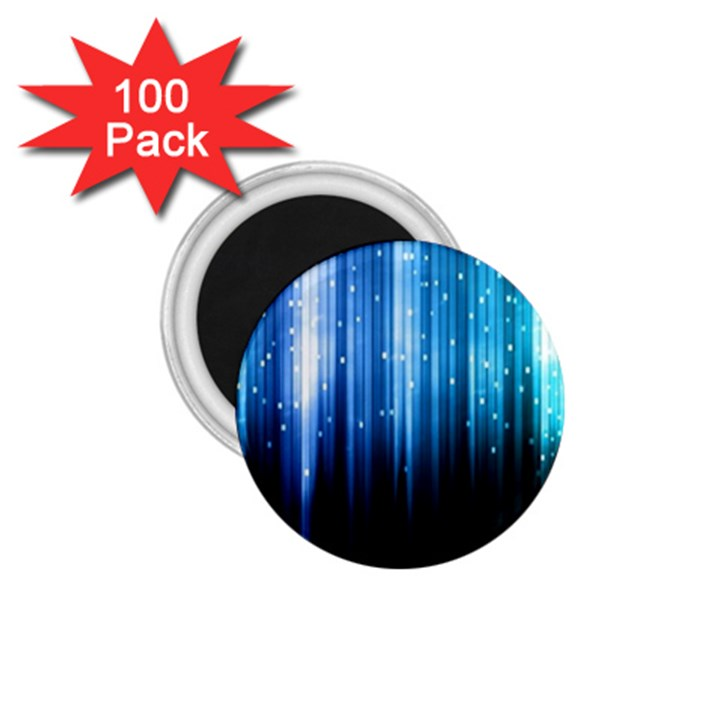 Blue Abstract Vectical Lines 1.75  Magnets (100 pack)