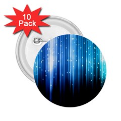 Blue Abstract Vectical Lines 2 25  Buttons (10 Pack)