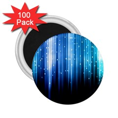 Blue Abstract Vectical Lines 2.25  Magnets (100 pack)