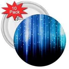 Blue Abstract Vectical Lines 3  Buttons (10 pack)